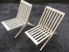 Paire de chauffeuses pliant design 50 style jeanneret folding chair fauteuil