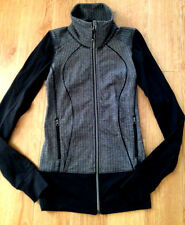 BNWT! Lululemon Yoga Nice Asana Jacket in Black Herringbone 2 XXS SOLD OUT!