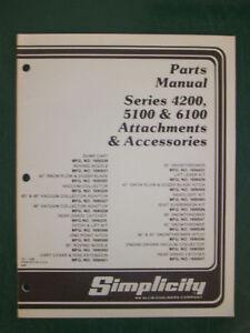 SIMPLICITY PARTS MANUAL ATTACHMENTS & ACS.