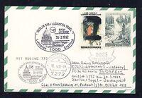 58324) LH FF Berlin - Budapest 30.3.92, Karte ab Österreich Enklave