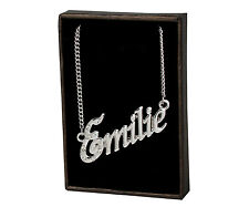 """Name Necklace """"EMILIE"""" –18K Gold Plated 