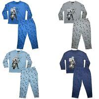 Boys Kids Pyjamas Long Sleeve Top Bottom Set Nightwear PJs Cotton Motorbike