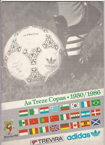 1986 FIFA WORLD CUP TOURNAMENT PROGRAMME FROM BRAZIL BY ADIDAS +PROGRAMME INSERT