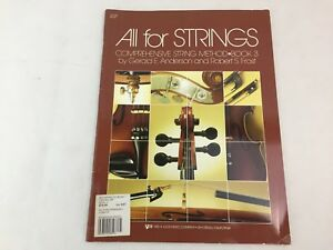 All For Strings - Book 3 - Violin - by Robert Frost - 80VN - (A)