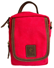 Red Small Crossbody Bag - RFID Protected - Cactus. Size: 22 x 16 x 13cm
