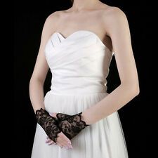 Black Charm Sexy Lady Girl Lace Party Costume Gloves Finger Fingerless Glove c