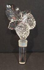 Crystal Wine Bottle Stopper raspberry Design