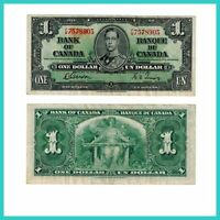 🍀P 58d Kanada Canada 1 Dollar 1937 F- 20866 Low Shipping Combine Free