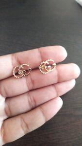 14k Gold Gg Earrings