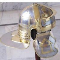 HQ ''Imperial ROMAN HELMET. Steel with brass decorations HALLOWEEN