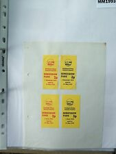M1993 Portland. 4 PUDC Bus/Tram Tickets.**