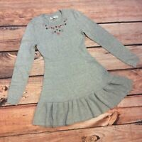 Abercrombie Kids Long Sleeve Sweater Dress Beaded Size 13/14