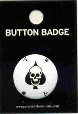 Ace of Spades Skull 25mm Button Badge Pin Carded
