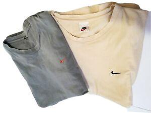 Pair Vintage Nike T Shirt Embroidered Swoosh Basic Essentials