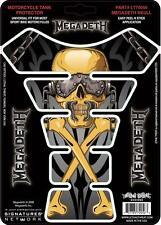 Amenaza letal Moto Bicicleta Tank Pad Protector De Etiqueta Megadeth Oro lt70056