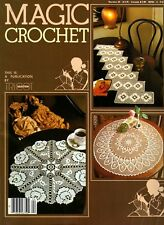 Vintage Magic Crochet Number 24 By Tricot ABC Blocks, Bedspreads, Doilies More