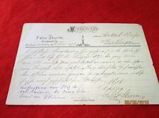 Original Mitteilung v. 1896 -  Nachlass Sturm Riedlingen - handgeschrieben /S26