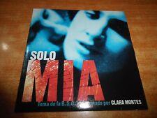 SOLO MIA BANDA SONORA CLARA MONTES CD SINGLE PROMO DEL AÑO 2001 1 TEMA