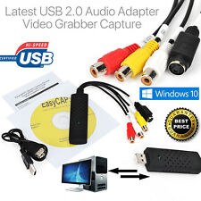 USB VHS Tapes To PC DVD Video Audio Converter 3 RCA DVR CCTV HD Capture Card