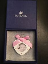 SWAROVSKI BABY PICTURE FRAME *BRAND NEW* PINK Heart With Bow 5004626