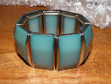 Vintage Jade Bakelite? Lucite?Old Plastic Expansion Stretch Bracelet Price 2 cel
