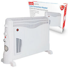 2000W PORTABLE ELECTRIC CONVECTOR HEATER THERMOSTAT 2KW TURBO FAN WALL MOUNTED