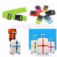 1/2X Adjustable Suitcase Luggage Straps Travel Baggage Belt Buckle Tie Down Lock
