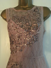 BNWT NEXT Pink Blush Lace Sequin Embellished Sleeveless MaDress Size 12 RRP £90