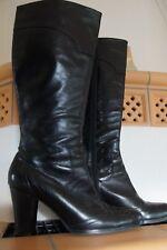 Damenstiefel Gr, 41 echt Leder schwarz Belmondo hochwertig