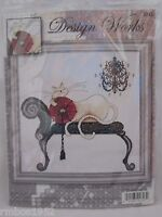 Design Works Chandelier Cat Counted Cross Stitch Kit NEW UNOPENED