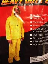 NEW SAS HEAVY DUTY RAIN SUIT XL 6814-01 WATER PROOF 3 PC YELLOW PVC FRONT SNAP