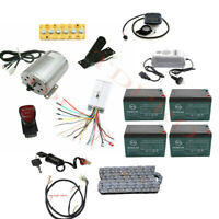 Complete 48v 1800w Brushless Motor Controller Battery kit Electric Bike Scooter
