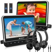 "10,1"" Car DVD Player Full HD Headrest HDMI USB Dual Screen Moniter +2 Headphones"