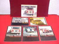 1972 1973 DODGE TRUCK ORIGINAL MEDIUM HEAVY DUTY BROCHURE PROSPEKT LOT OF 5