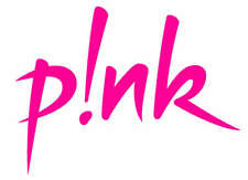 P!NK (PINK) Singer Artist Iron On Transfer  t-shirt embellish 15x8.5cms