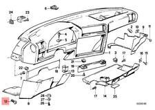Genuine BMW E30 Cabrio Trim Panel Dashboard Lock x25 pcs OEM 51451916579