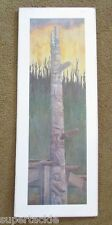 CUMSHEWA HOUSE POLE 1900 Signed JIM GILBERT Limited Edition Reproduction