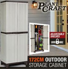 NEW 172cm Lockable Outdoor Storage Cabinet - Cupboard Garage Carport Shed