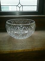 "Cut Glass 9"" Crystal Bowl Very High Quality Vintage No Damage Condition Gorgeous"