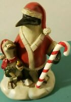 VTG Tii Collections Christmas Penguin Santa & Duck Figurine Country Primitive