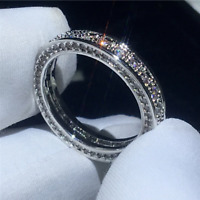 Certified 2.00 ct Round White Diamond Engagement Band Ring 14k White Gold