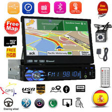 "7"" HD 1DIN Car MP5 Player Radio Estéreo Head Unit GPS Sat Nav BT EU Map + Cámara"