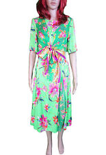 Round Neck Short Sleeve Chiffon Floral Dresses for Women