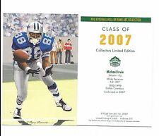 MICHAEL IRVIN 2007 GOAL LINE ART CARD Dallas Cowboys