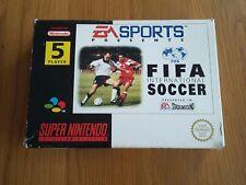 SUPER NINTENDO SNES GAME   FIFA INTERNATIONAL SOCCER  BOXED