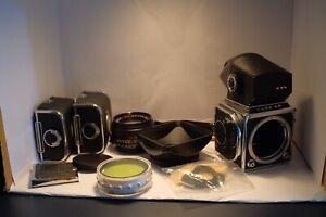 Kiev 88 medium format film camera - Plus extras WLF TTL Prism Hasselblad 80mm