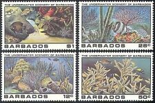 Barbados 1985 Marine/PESCE/Coral/Stella Marina/NATURA/conservazione della Fauna/4v n41635