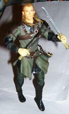 "7"" Lord of the Rings Lotr 2002 Marvel Elf Legolis figure + leather armor 1 sword"