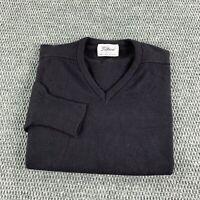 Vintage 80s Titleist Orlon Acrylic V Neck Sweater Mens Medium Black Grandpa Golf