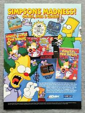 The Simpsons Krusty's Fun House NES   1992 Vintage Game Print Ad Poster